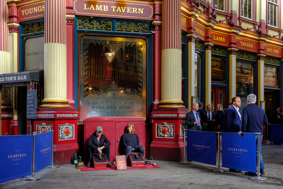Shoe Shine Girls at Leadenhall Market, London, England | Barbara Cameron Pix | Food & Travel Photographer