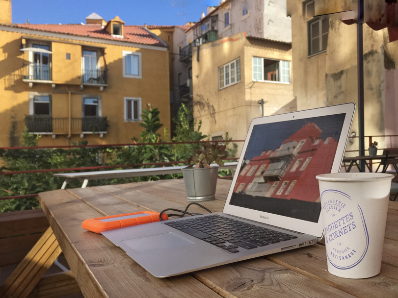 Rooftop workspace at WIP, Lisbon, Portugal | Barbara Cameron | Food & Travel Photographer