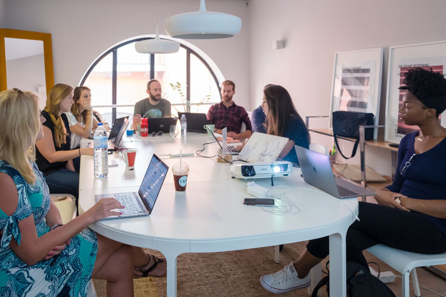 Meeting room at WIP Coworking space, Lisbon, Portugal | Barbara Cameron | Food & Travel Photographer