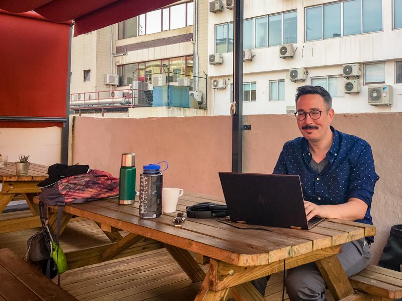 Digital Nomad workspace at WIP Lisbon, Portugal | Barbara Cameron | Food & Travel Photographer