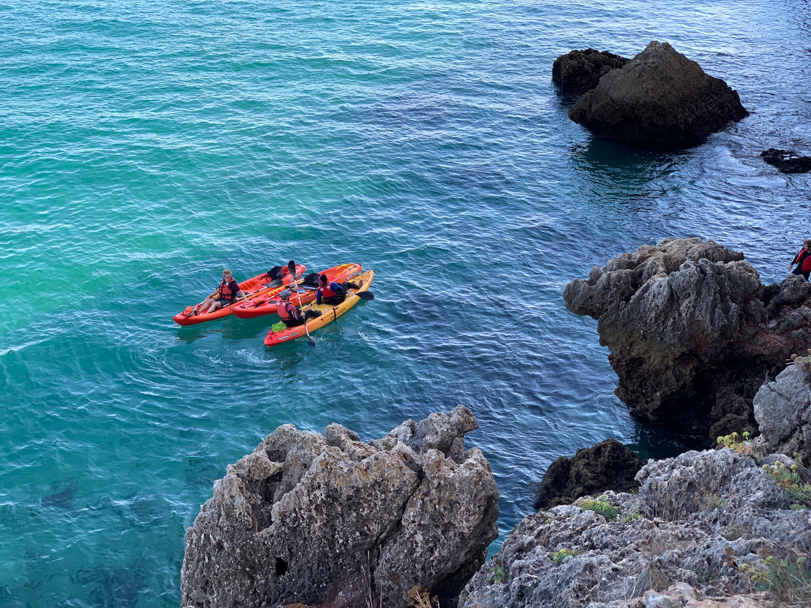 Kayaking in Natural Park of Arrabida, photo by Gavin Elster