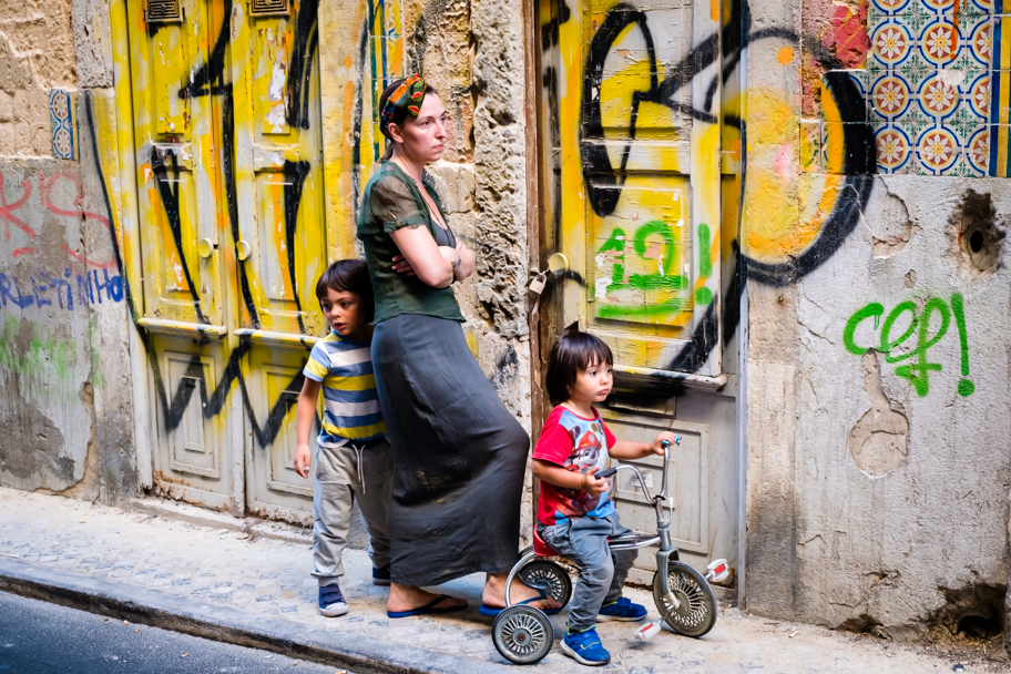 A Portuguese Mother and her Children, Lisbon, Portugal | Barbara Cameron | Food & Travel Photographer