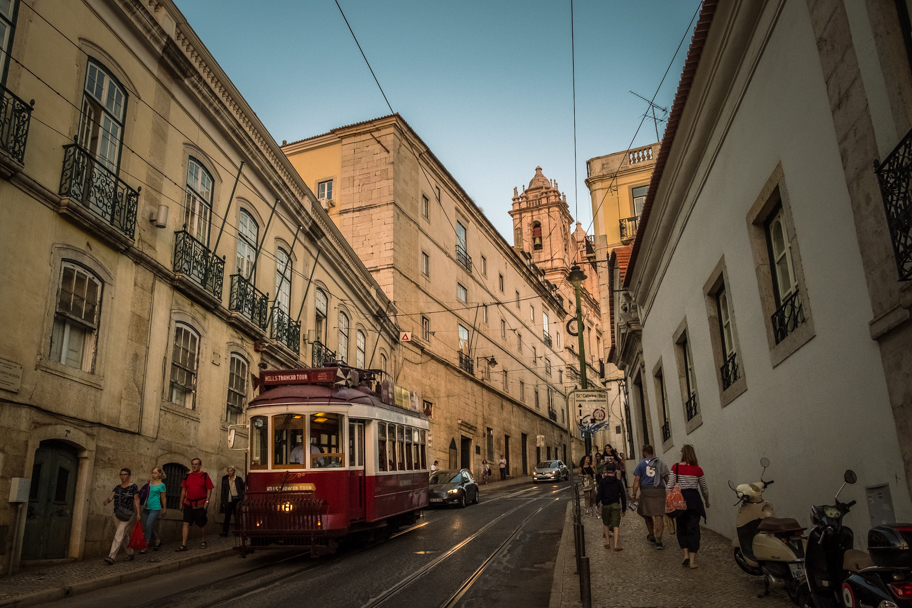 Trams and Steep Hills in Lisbon, Portugal | Barbara Cameron | Food & Travel Photographer