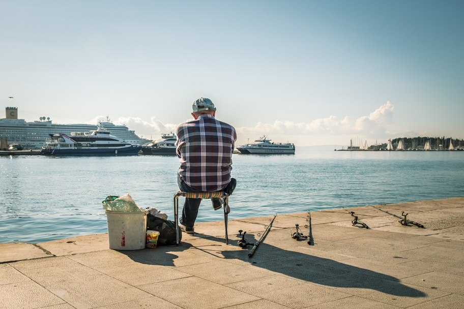 Fisherman at Split Harbour, Croatia | Barbara Cameron | Food & Travel Photographer
