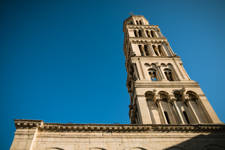 Bell Tower at Cathedral of Saint Domnius, Split, Croatia | Barbara Cameron | Food & Travel Photographer