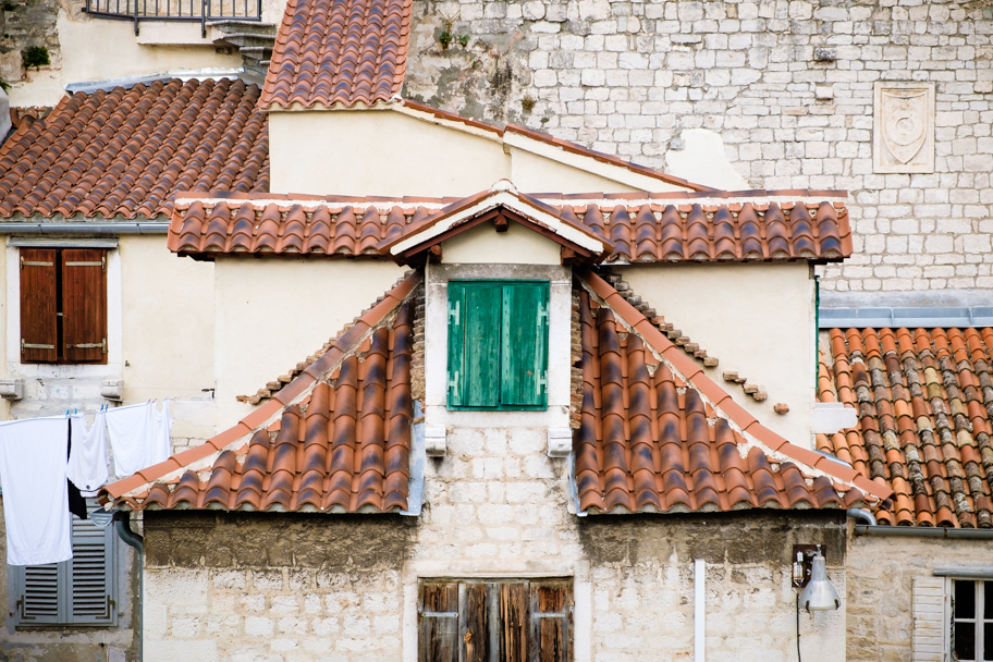 Ancient residences in Old Town, Split, Croatia | Barbara Cameron | Food & Travel Photographer