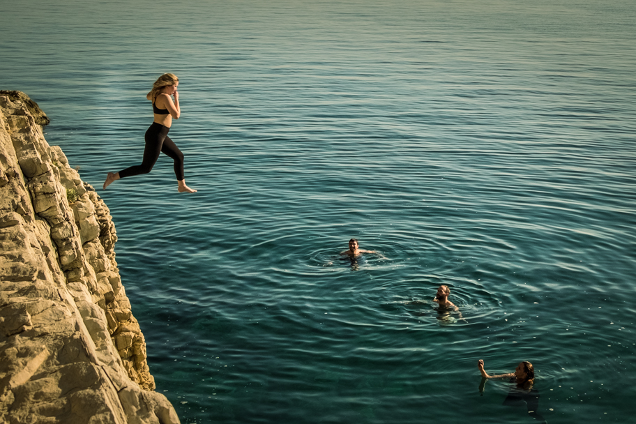 Cliff Jumping, Split, Croatia | Barbara Cameron | Food & Travel Photographer