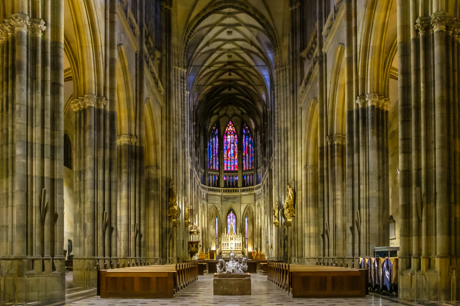 Nave, St. Vitus Cathedral, Prague, Czech Republic | Barbara Cameron | Food & Travel Photographer