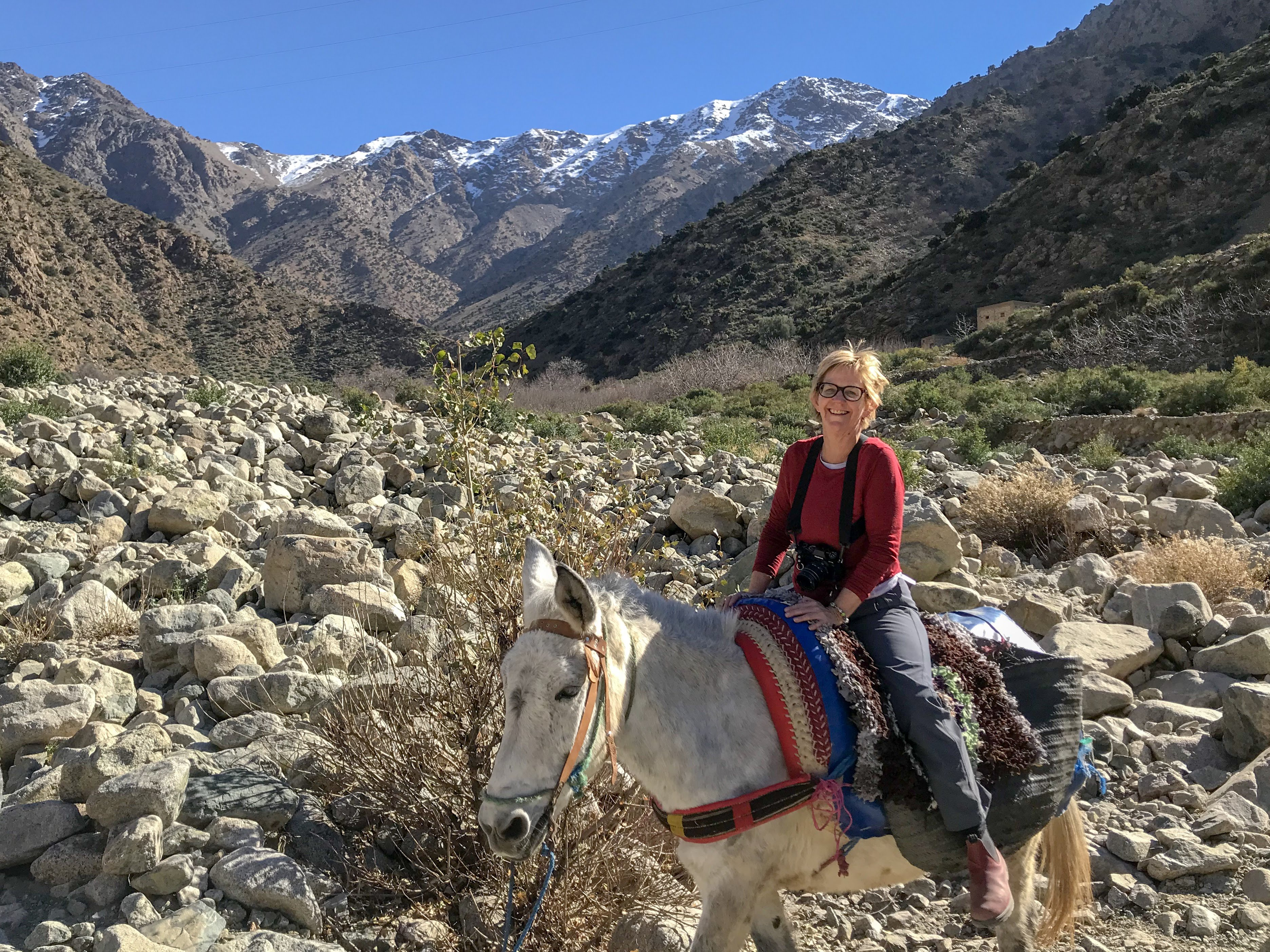Riding a Mule, Ourika Valley, Morocco   photo by Luke Gulbrand