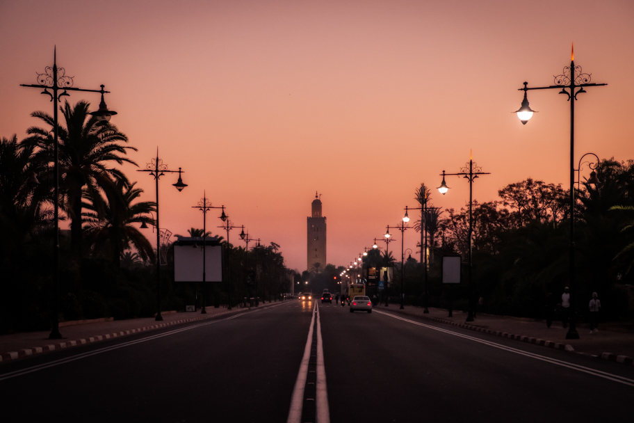 Koutoubia Mosque at sunrise, Marrakech, Morocco | Barbara Cameron Pix | Food & Travel Photographer