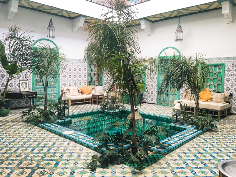 Main Courtyard at Riad BE, Marrakech, Morocco| Barbara Cameron Pix | Food & Travel Photographer