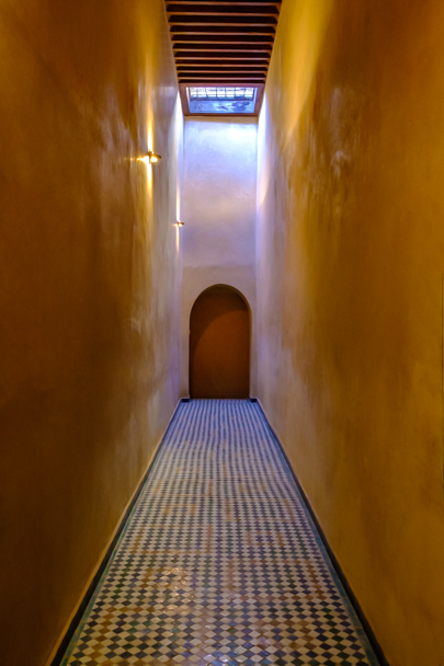 Servant's walkway, Palais De La Bahia (Prime Minister's Palace), Marrakech, Morocco| Barbara Cameron Pix | Food & Travel Photographer
