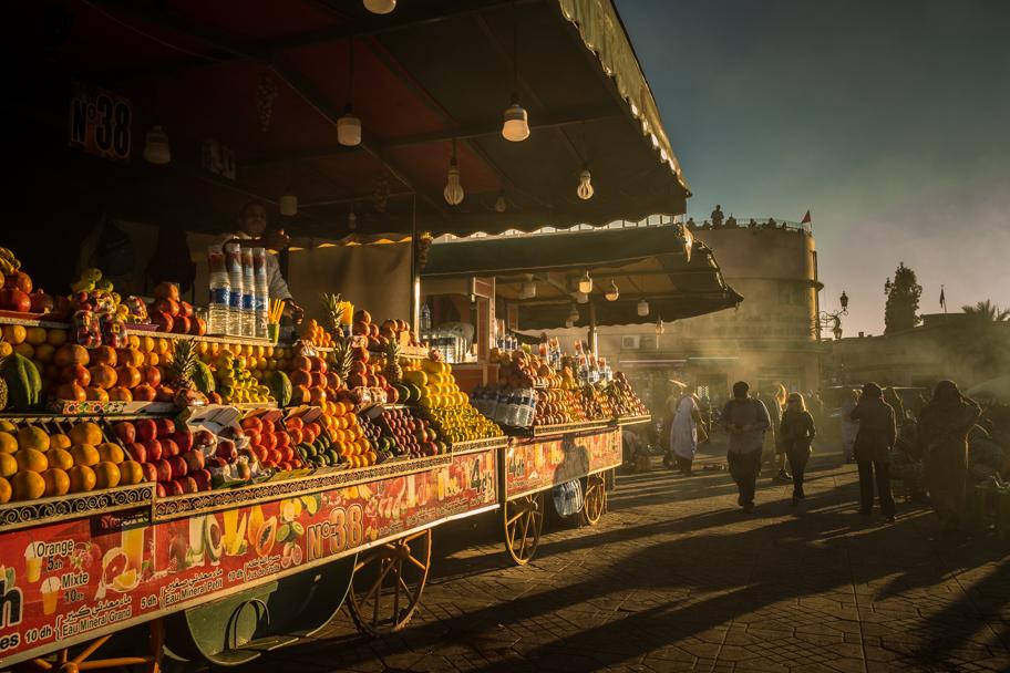 Day's end at The Medina, Marrakech, Morocco| Barbara Cameron Pix | Food & Travel Photographer