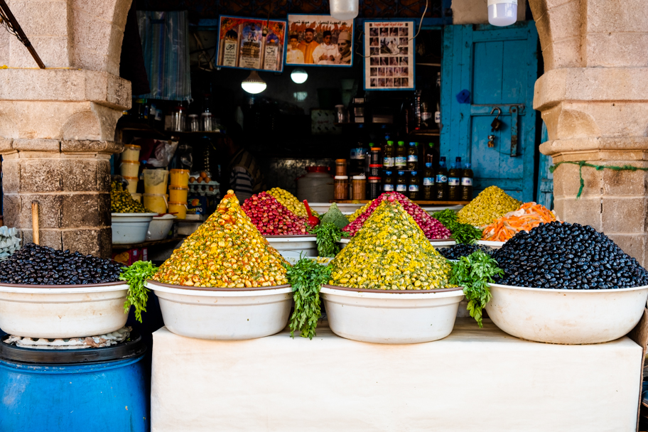 Olives for Sale, Essaouira, Morocco | Barbara Cameron Pix | Food & Travel Photographer