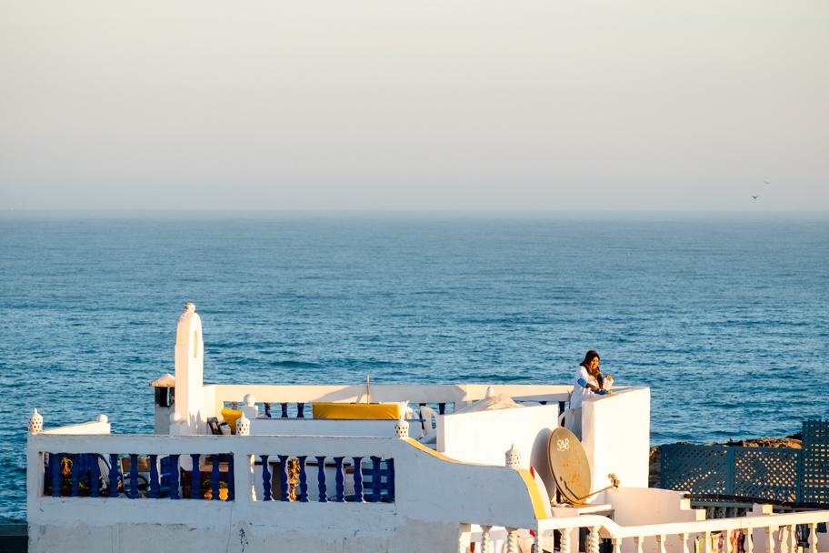 Seaside Terrace, Essaouira, Morocco | Barbara Cameron Pix | Food & Travel Photographer