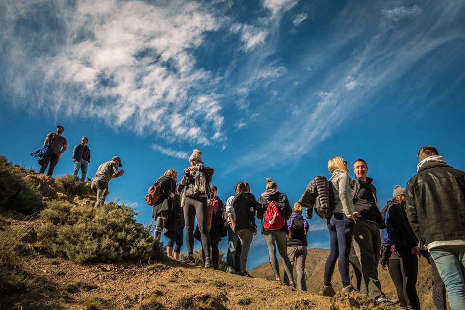 Hikers in Ourika Valley, Atlas Mountains, Morocco   Barbara Cameron Pix   Food & Travel Photographer