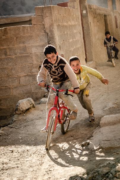 Berber Boys & Bicycle, Atlas Mountains, Morocco | Barbara Cameron Pix | Food & Travel Photographer