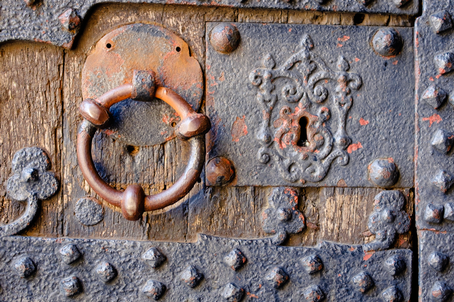 Textured door at Villers Abbey near Brussels, Belgium by Barbara Cameron Pix