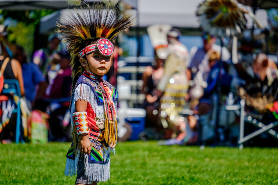 Youngster at a BC Pow Wow, photo by Barbara Cameron Pix, Pro Photographer