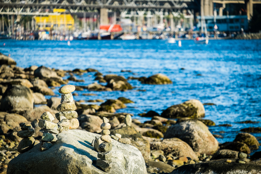 Looking to Granville Island from English Bay Vancouver BC, photo by Barbara Cameron Pix, Pro Photographer