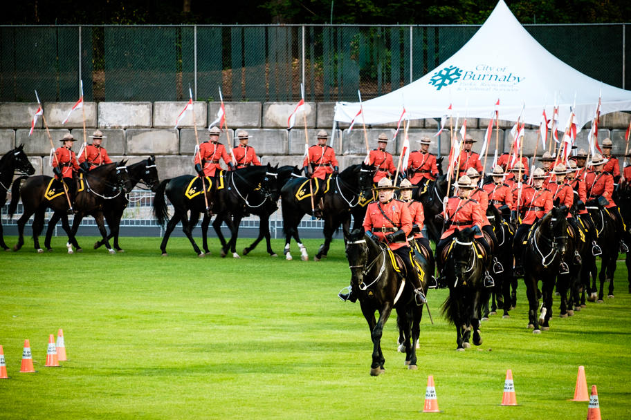 2017 RCMP Musical Ride in Burnaby, BC, photo by Barbara Cameron Pix, Pro Photographer