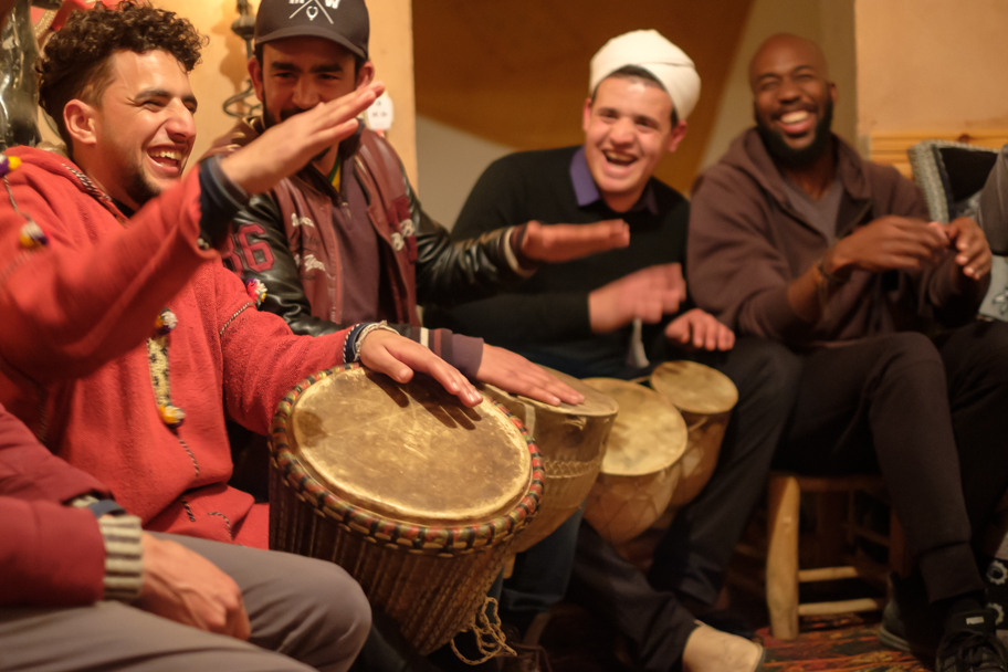 Berber musicians at Dades Gorge, Morocco| Barbara Cameron Pix | Food & Travel Photographer
