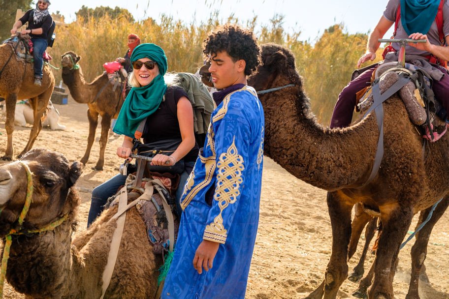 Tourist on camel in Morocco | Barbara Cameron Pix | Food & Travel Photographer