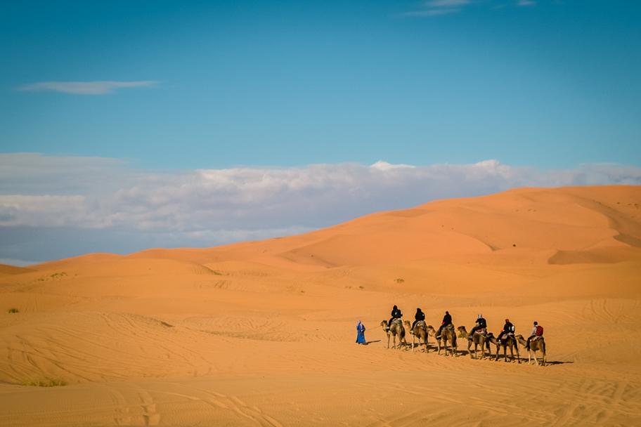 Camel trek in the Sahara Desert, Morocco | Barbara Cameron Pix | Food & Travel Photographer