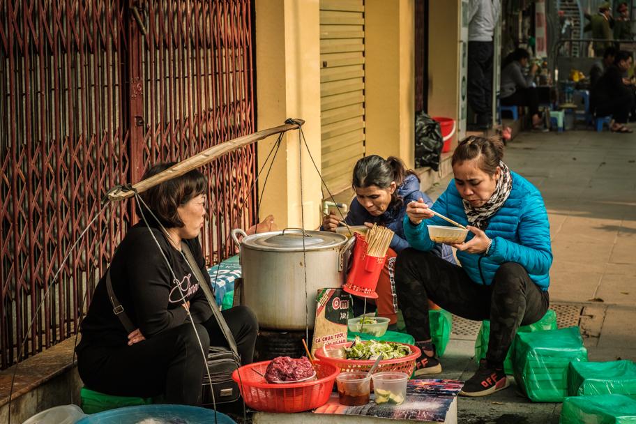 Makeshift stools made by a street pho vendor, Hanoi, Vietnam | Barbara Cameron Pix | Food & Travel Photographer