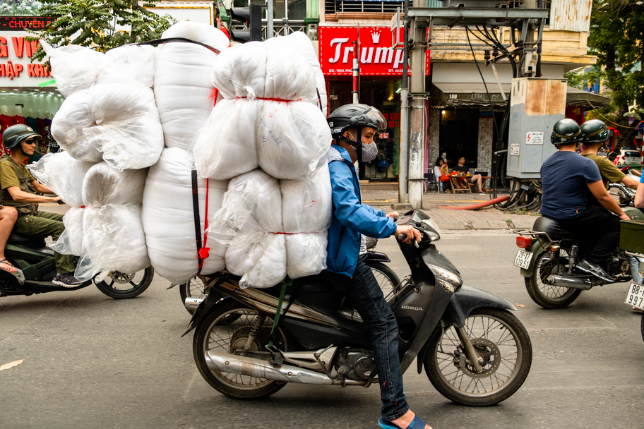 Scooters are used to deliver anything, Hanoi, Vietnam | Barbara Cameron Pix | Food & Travel Photographer