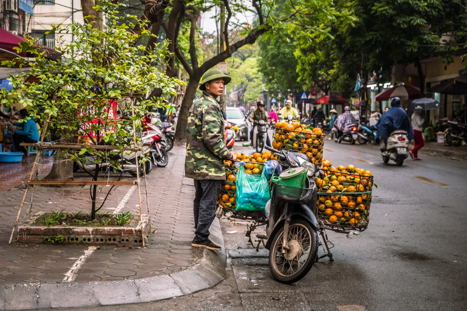 Scooter vendor, Hanoi, Vietnam | Barbara Cameron Pix | Food & Travel Photographer