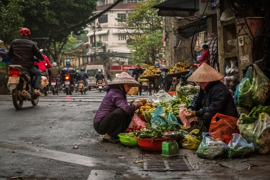 Fresh vegetables for sale, Hanoi, Vietnam | Barbara Cameron Pix | Food & Travel Photographer