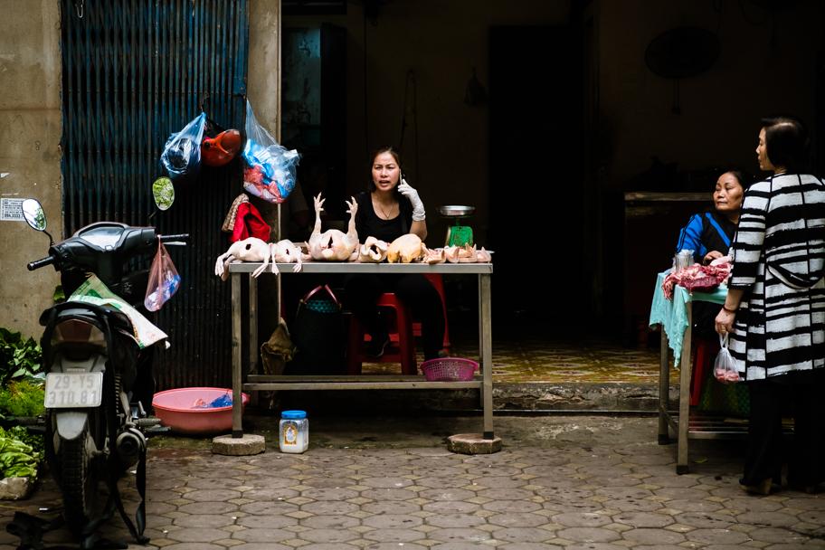 Plucked chickens for sale, Hanoi, Vietnam | Barbara Cameron Pix | Food & Travel Photographer