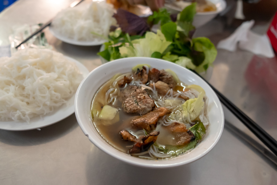 One bowl of bun cha in Hanoi, Vietnam. Photo by Barbara Cameron Pix, Food & Travel Photographer
