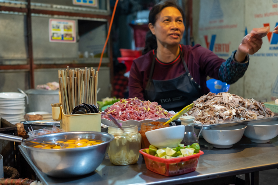 Pho chef in Hanoi, Vietnam. Photo by Barbara Cameron Pix, Food & Travel Photographer