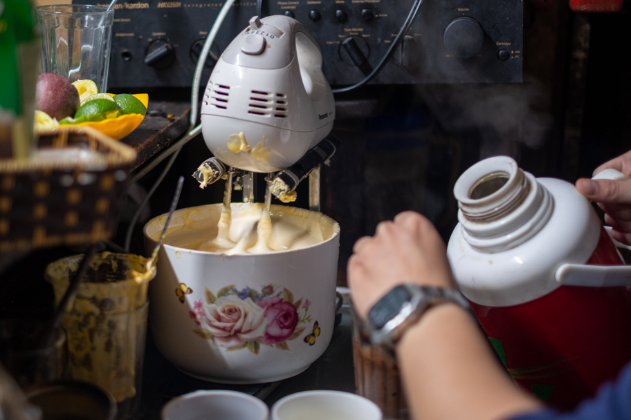 Egg Coffee Prep at Cafe Dinh, Hanoi, Vietnam | Barbara Cameron Pix | Food & Travel Photographer