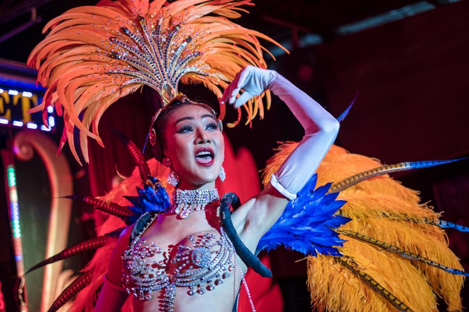 Ladyboy performs at the Chiang Mai Cabaret, Thailand | Barbara Cameron Pix | Food & Travel Photographer
