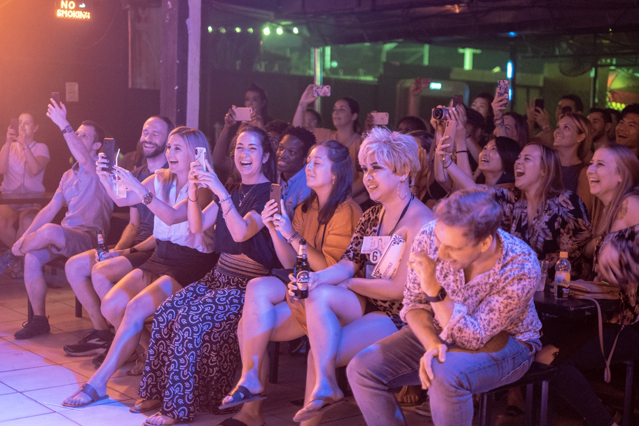 Audience members enjoying the Chiang Mai Cabaret, Thailand | Barbara Cameron Pix | Food & Travel Photographer