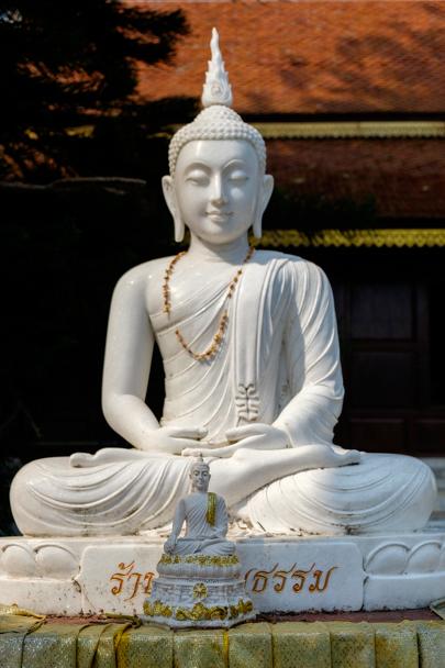 Buddha statue at Wat Phra That Doi Suthep, Chiang Mai, Thailand | Barbara Cameron Pix | Food & Travel Photographer