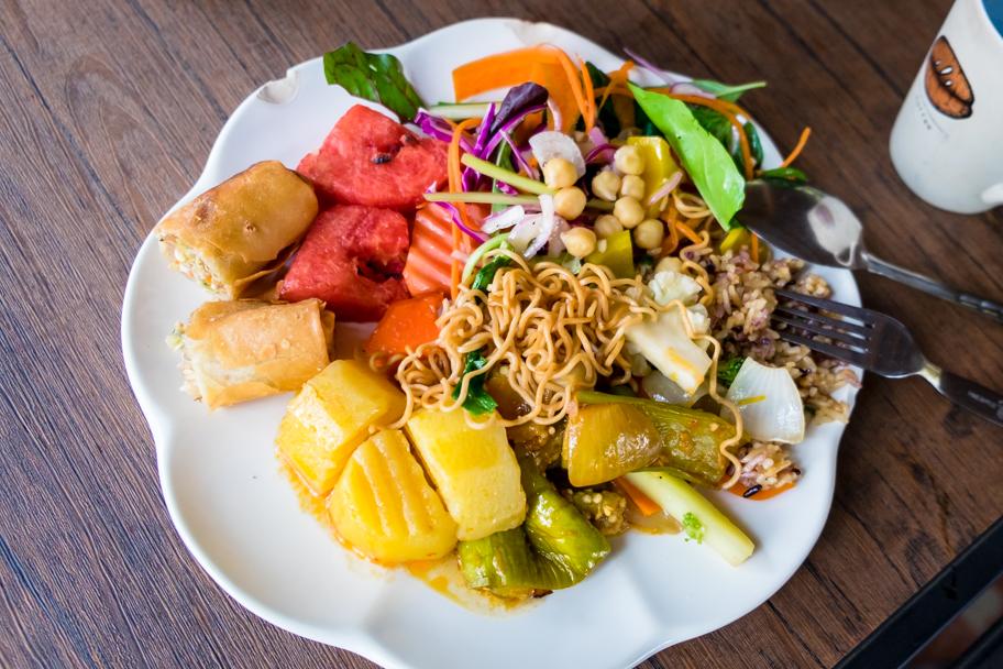 Vegetarian buffet at Elephant Nature Park | Barbara Cameron Pix | Food & Travel Photographer