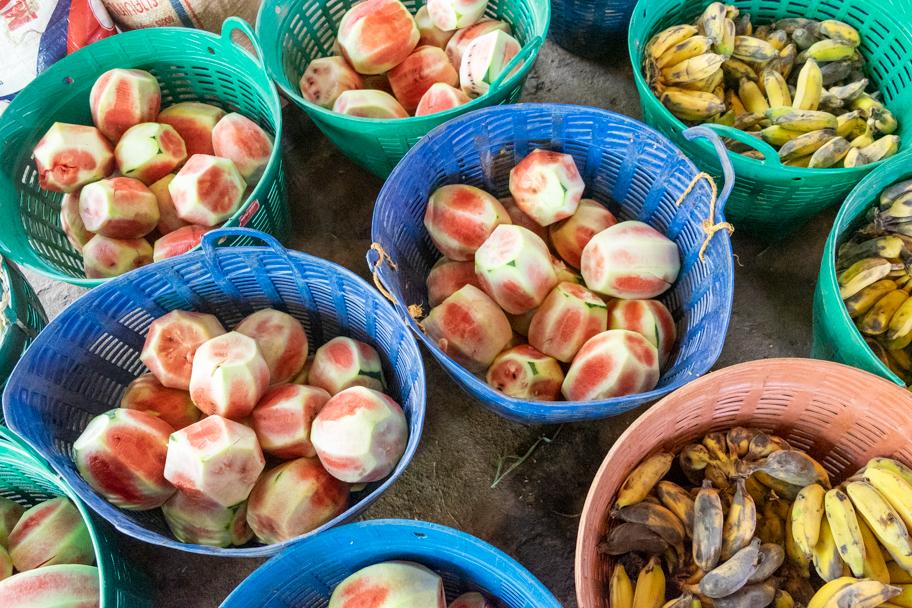 Baskets of elephant food| Barbara Cameron Pix | Food & Travel Photographer