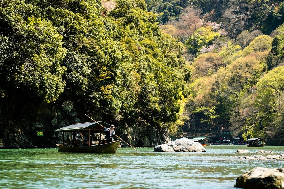 Boating on Hozu-gawa River in Arashiyama, Kyoto, Japan  Barbara Cameron Pix   Food & Travel Photographer