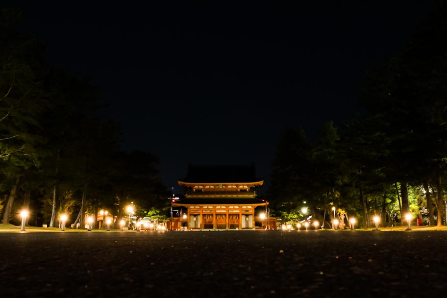 Heian Shrine lit up at night, Kyoto, Japan  Barbara Cameron Pix   Food & Travel Photographer