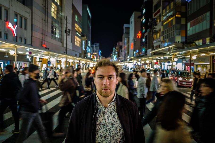 Looking north at the intersection of Kawaramachi-dori and Shijo-dori, Kyoto, Japan   Barbara Cameron Pix   Food & Travel Photographer